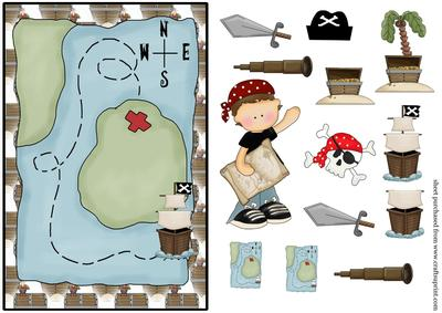 pirate birthday card ; cup134525_539