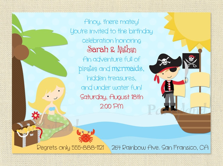 pirate birthday card printable ; 332-best-pirates-images-on-pinterest-pirate-invitation-template