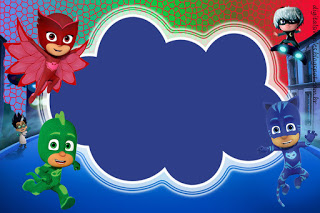 Pj Masks Birthday Card Template Free Printable Party