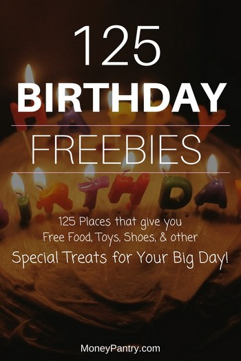 places to sign up for your birthday ; birthday-freebies