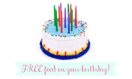 places to sign up for your birthday ; diningdeals