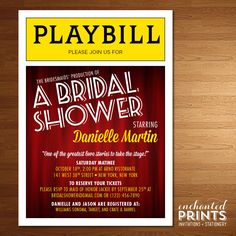 playbill birthday card ; 0e61e3372b6c3ecd5c70806ee6179cb0--printable-invitations-bridal-shower-invitations