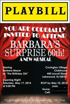 playbill birthday card ; 181a21fdfafebfed1db9111531cf3609--broadway-theme-graduation-