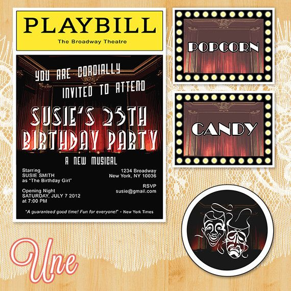 playbill birthday card ; 2479a71b12321b321101be35f44aecb0