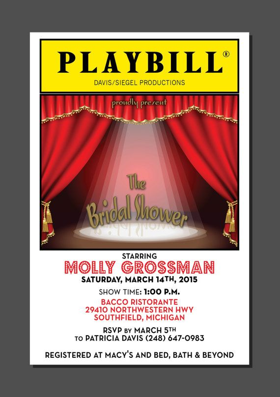 playbill birthday card ; 2a3c08deb252bc16c6010cbeb960c217