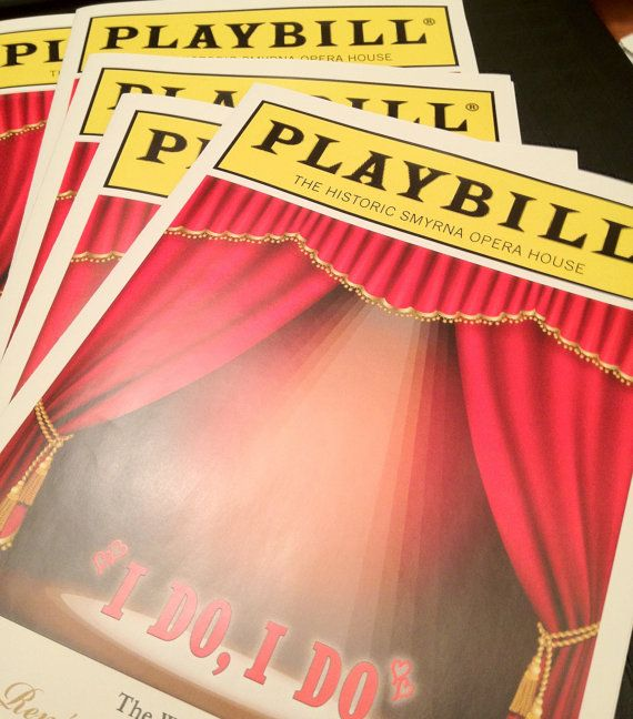 playbill birthday card ; 9317e50aabec5cfbef61cea7e0cc8ab8