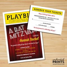 playbill birthday card ; a702102b6659fb9f726c74b8c0460d7d