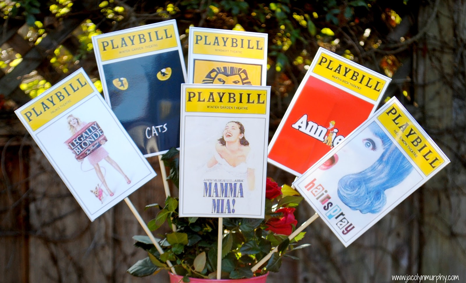 playbill birthday card ; broadway+5