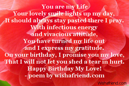 poem for a beautiful girl on her birthday ; 2031-girlfriend-birthday-poems