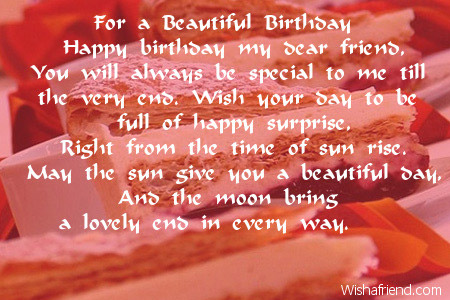 poem for a beautiful girl on her birthday ; 2452-friends-birthday-poems