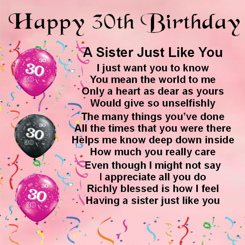 poem for a birthday sister ; s-l1000