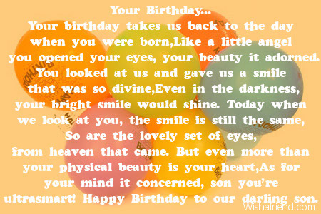 poem for my son on his 5th birthday ; 1945-son-birthday-poems