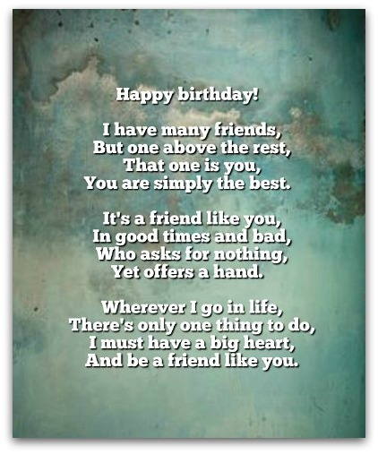 poems for your best friend on her birthday ; birthday-poems5B