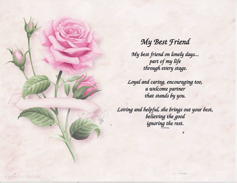 poems for your best friend on her birthday ; s-l1000