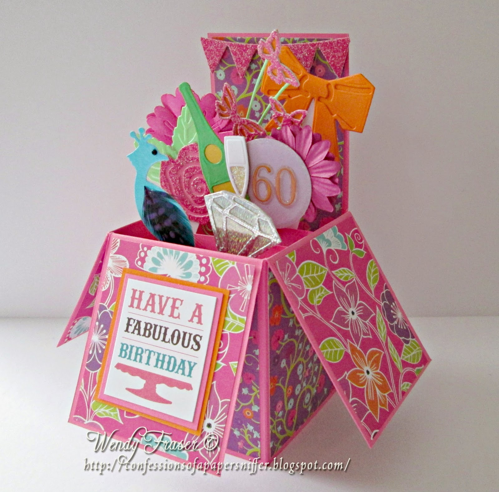 Pop Up 60th Birthday Card Suebox2