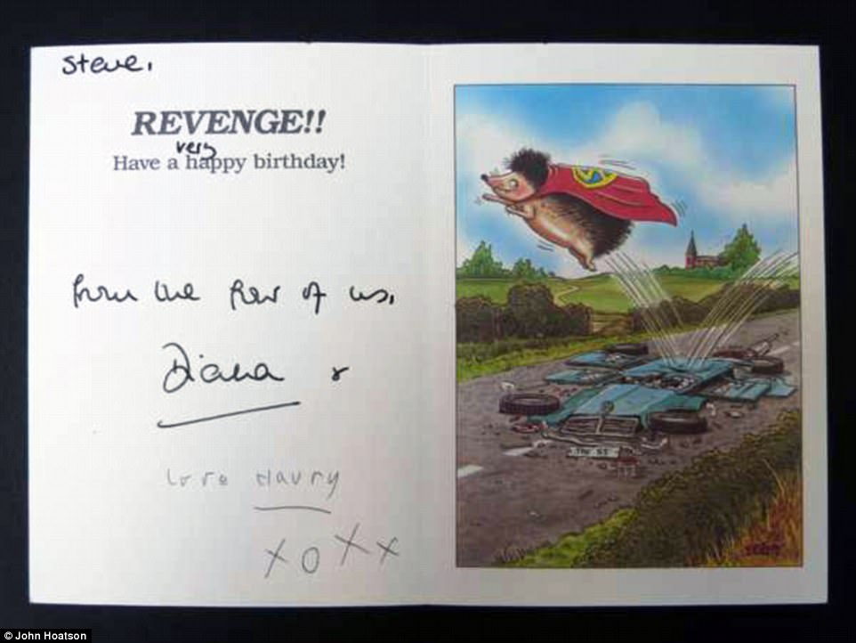prince harry birthday card ; 435BCE8E00000578-4803572-Birthday_card_given_to_chauffeur_Steve_Davis_from_Diana_and_youn-a-4_1503348303182