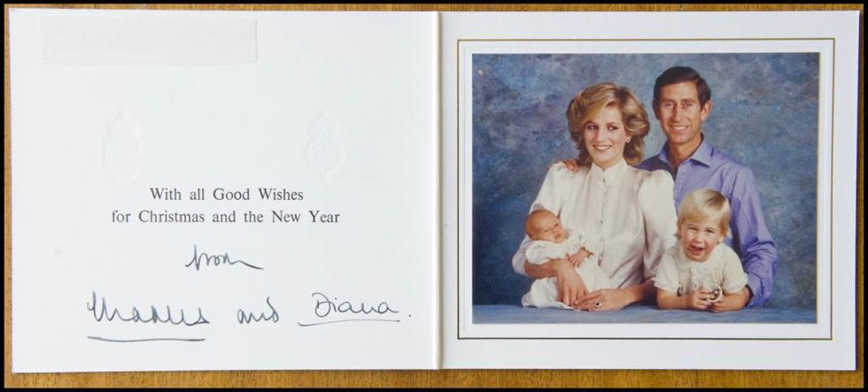 prince harry birthday card ; Born-just-three-months-before-Christmas-Prince-Harry-makes-his-first-appearance-on-a-royal-Christmas-card-in-this-1984-greeting