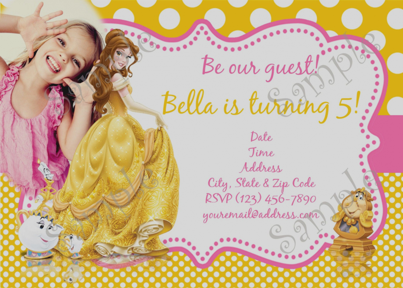 princess belle birthday card ; Lovely-Princess-Belle-Party-Invitations