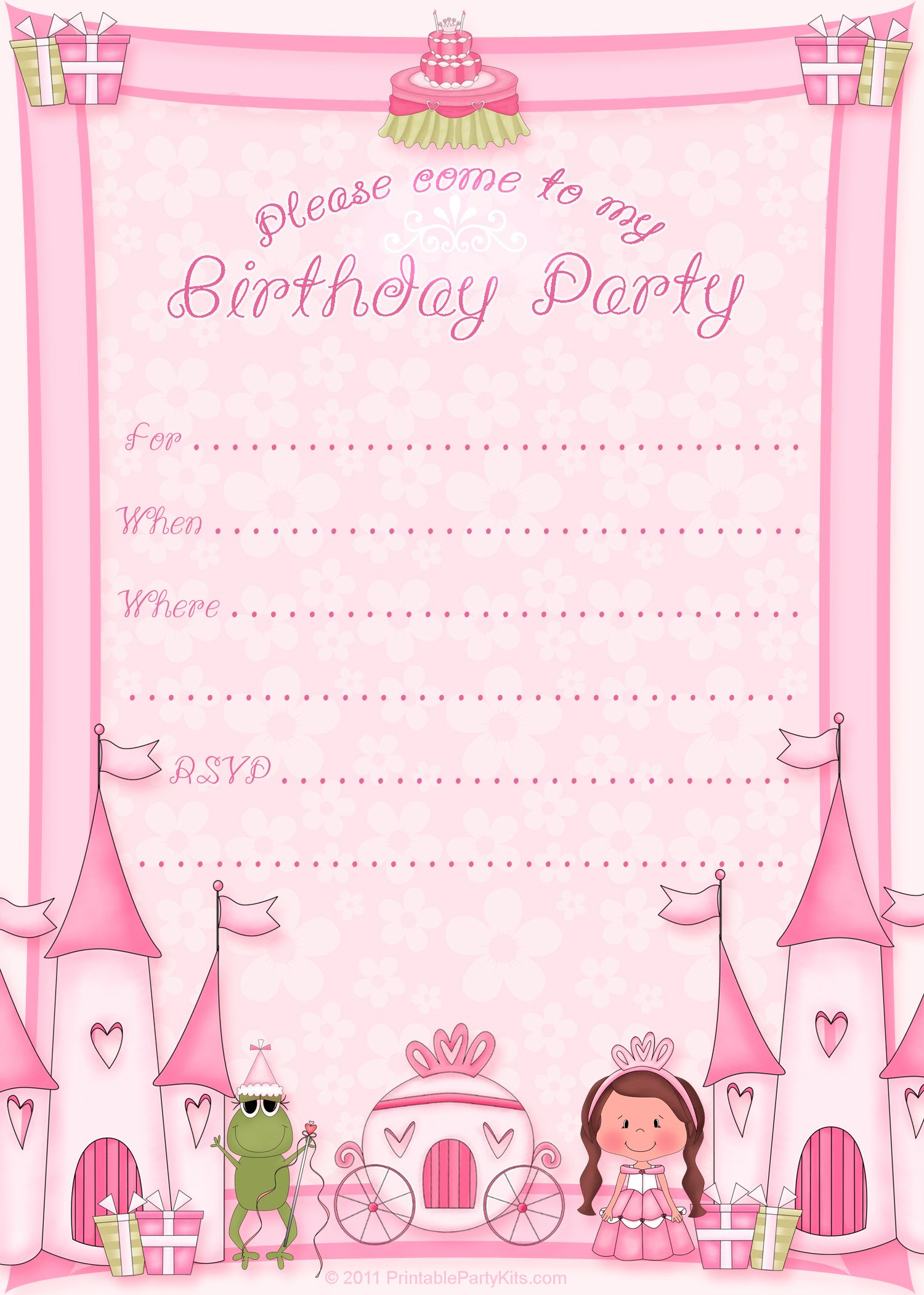 princess birthday invitation card template ; 32fa41dcd2a269796951f5fa1837bfda
