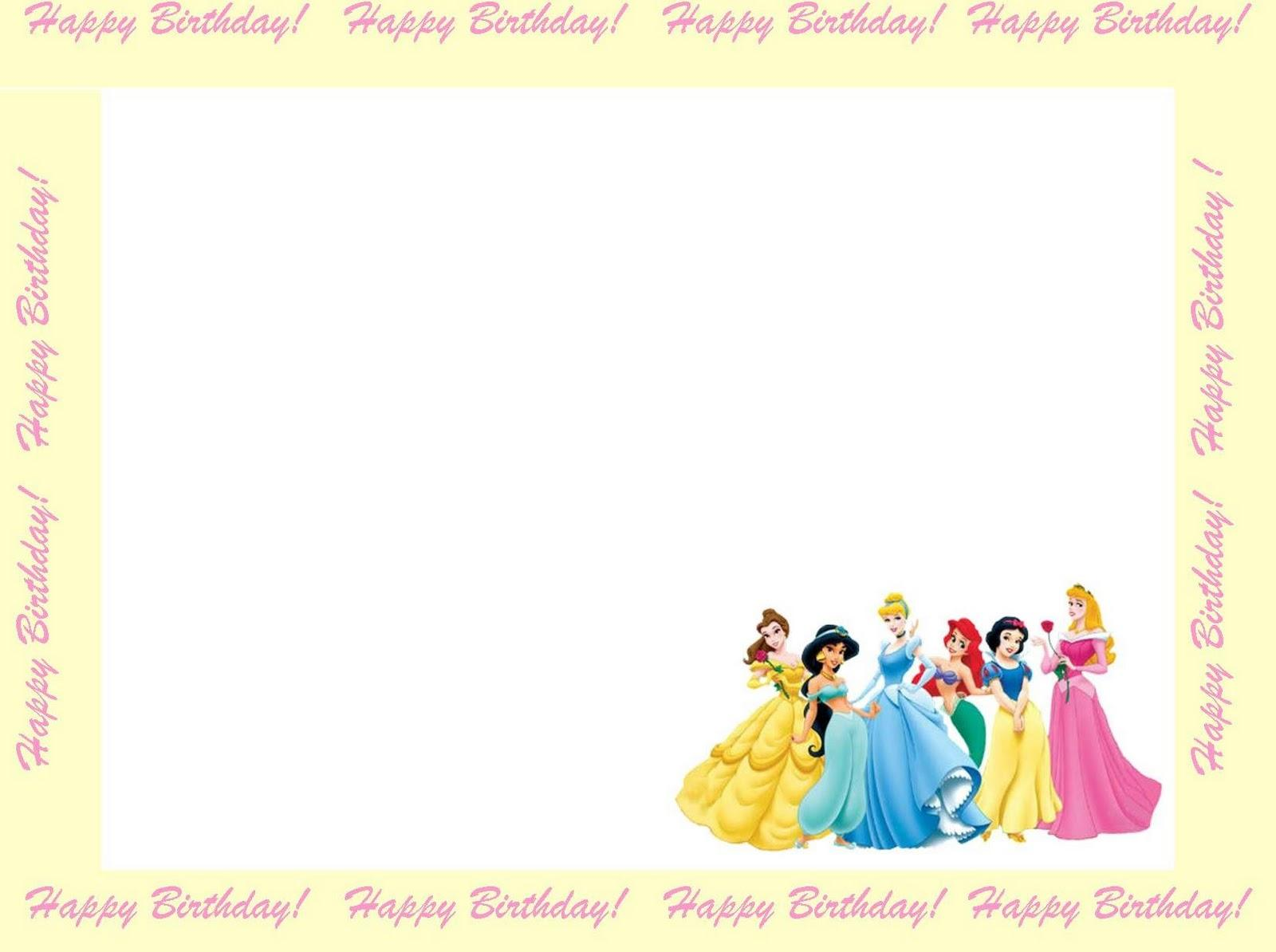 princess birthday invitation card template ; Princess-1st-Birthday-Invitations
