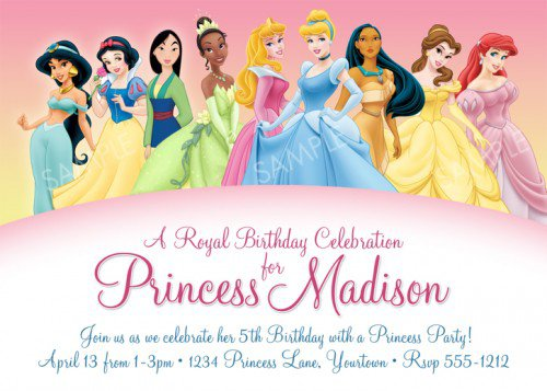 princess birthday invitation card template ; disney-princess-birthday-invitation-card