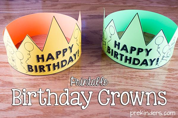 printable birthday chart for teachers ; birthday-crowns