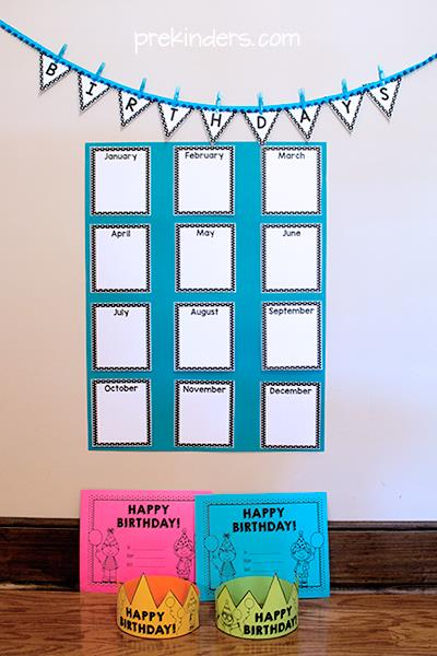 printable birthday chart for teachers ; birthdays