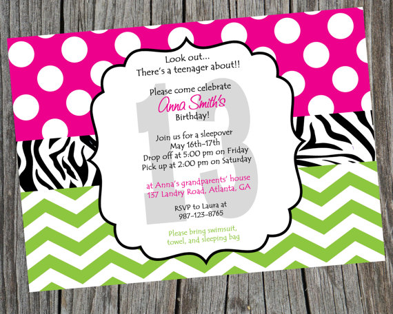 printable birthday invitation paper ; il_570xN