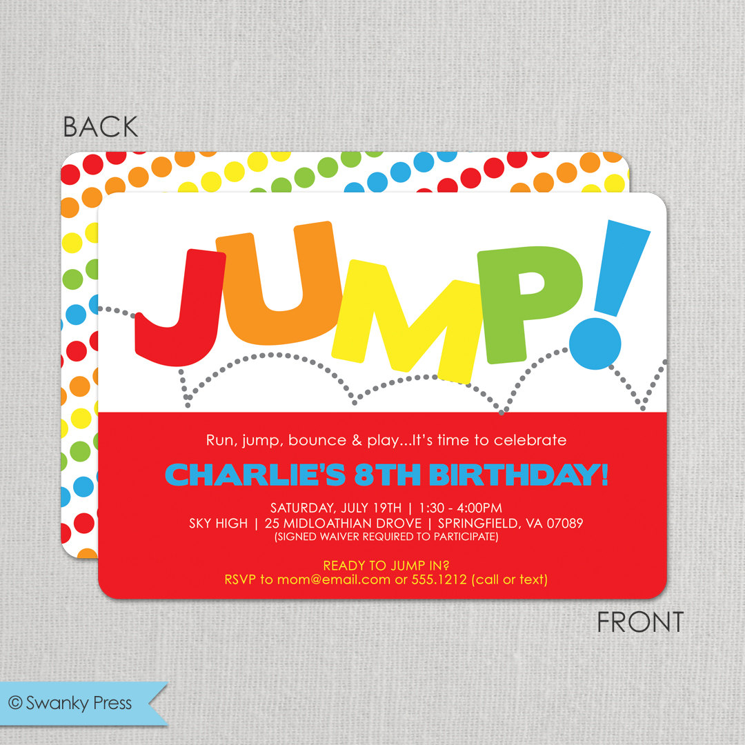 printable sky zone birthday invitations ; description-jump-invitation-jump-birthday_jump-birthday-invitation-bounce-on-images-about-gym-party-science-parks