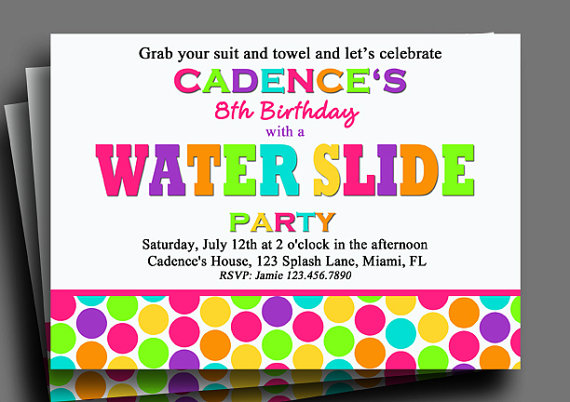 printable water slide birthday party invitations ; il_570xN