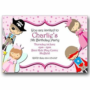 printed birthday party invitations ; s-l300