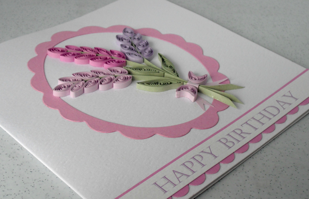 quilling birthday card ideas ; Quilling+lavender+birthday+card
