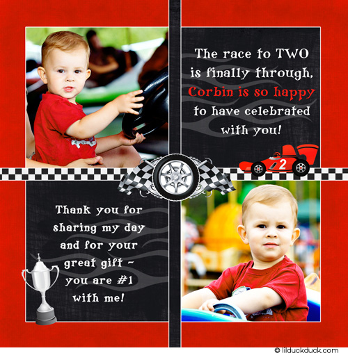 race car birthday invitation wording ; race-car-thank-you-photo-card-2nd-birthday-red-black_0
