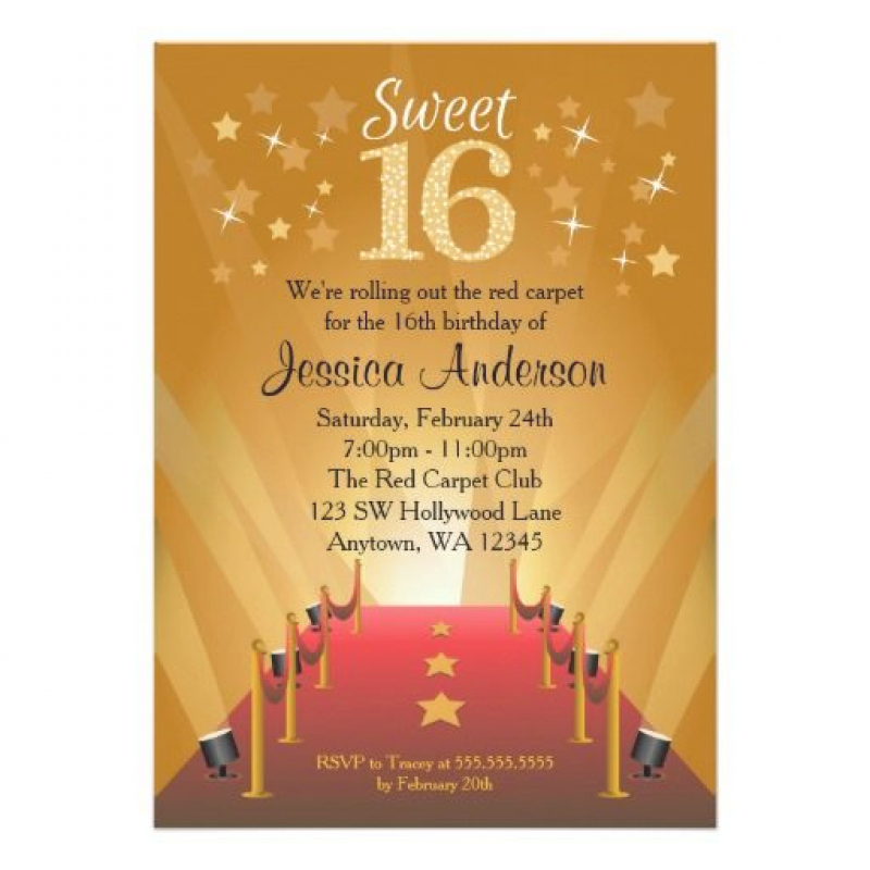red carpet birthday invitation wording ; 1000-images-about-sweet-16-birthday-invitations-on-pinterest