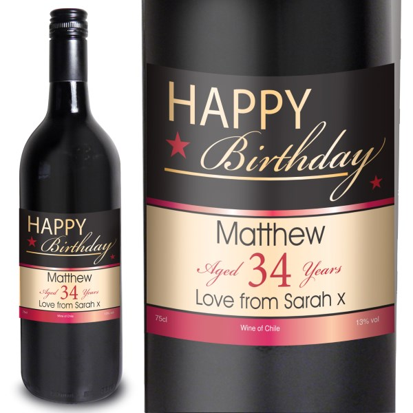 red wine for birthday gift ; happy-birthday-red-wine