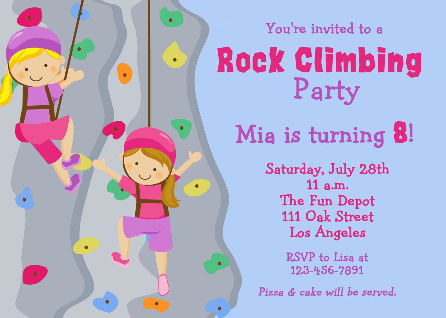 rock climbing birthday party invitations printable ; 85522292ca52d5ebc602dafb4291289a
