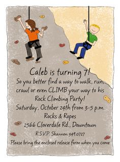 rock climbing birthday party invitations printable ; 9d7e03d912e92b8029757c25da502c24--rock-climbing-walls-teen-parties