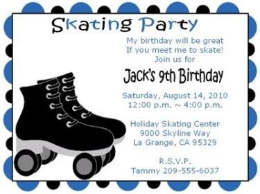 roller skating birthday party invitation template ; Astounding-Skating-Party-Invitations-Which-You-Need-To-Make-Party-Invitation-Wording