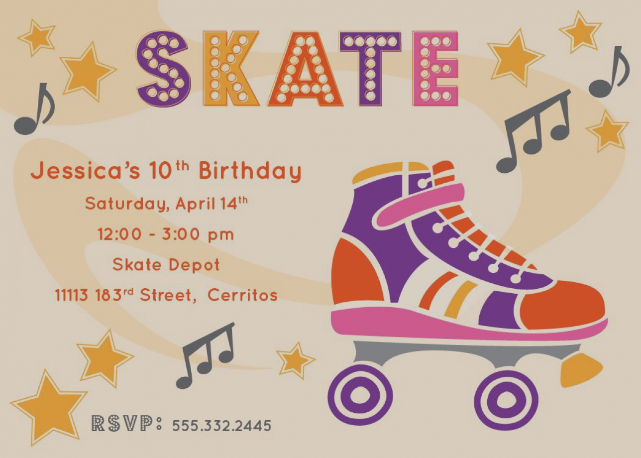 roller skating birthday party invitation template ; beautiful-of-free-printable-roller-skating-birthday-party-invitations-laylas