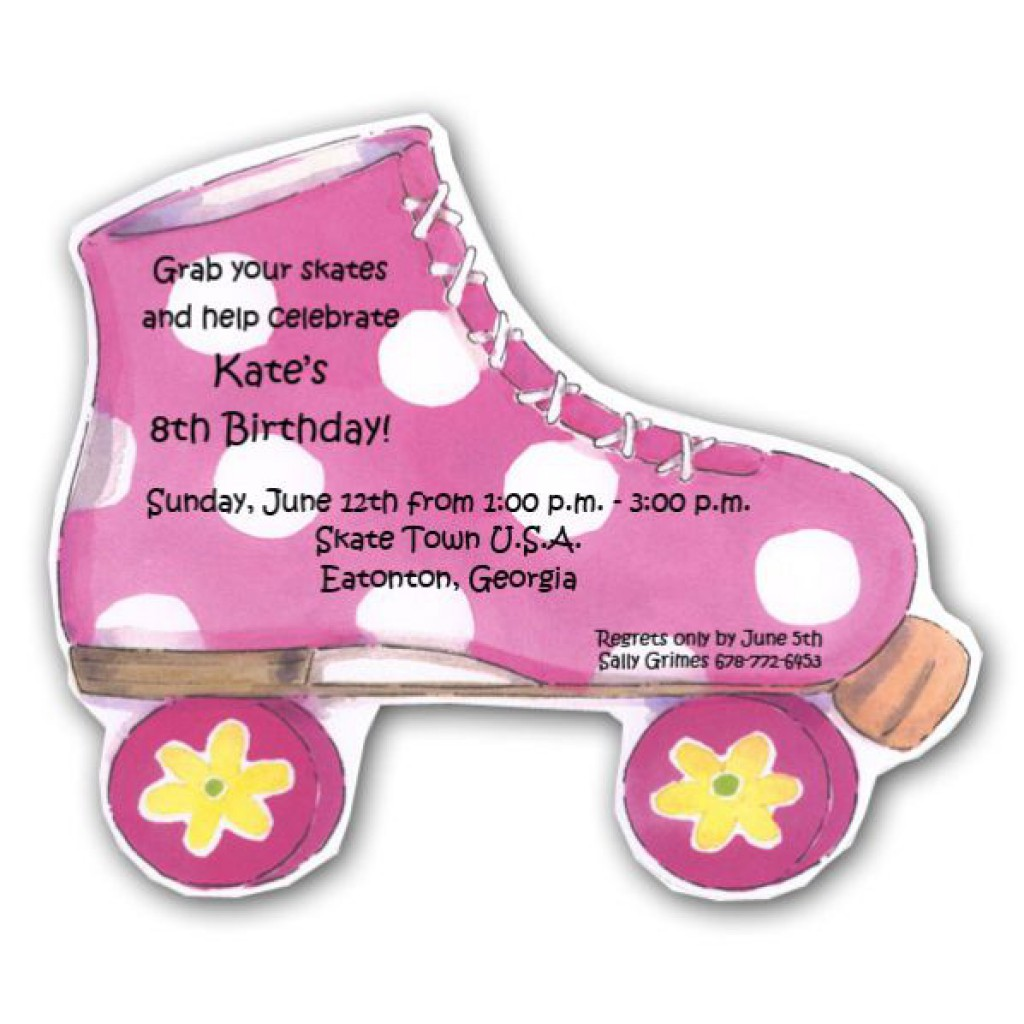 roller skating birthday party invitation template ; free_roller_skating_birthday_party_invitation_template