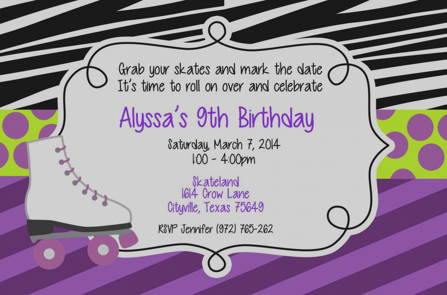 roller skating birthday party invitation template ; new-of-roller-skating-birthday-party-invitations-marvelous-you