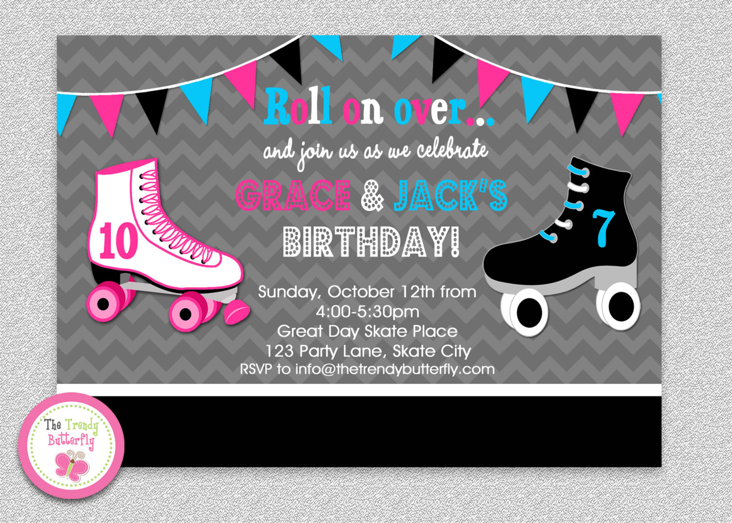 roller skating birthday party invitation template ; roller-skating-birthday-party-invitations-using-an-excellent-design-idea-aimed-to-prettify-your-Party-Invitation-Templates-16