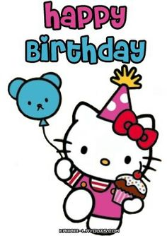 sanrio birthday card ; 44d431ed23994bc30c3cb936dbf61c7d--birthday-greeting-cards-birthday-greetings