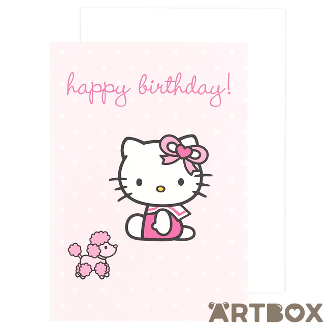 sanrio birthday card ; greeting_hk_poodle_pink_1_650