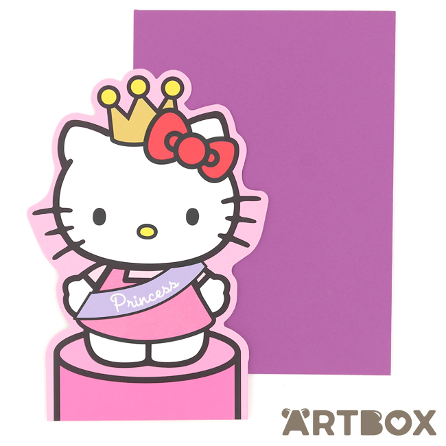 sanrio birthday card ; greeting_hk_standup_princess_1_650