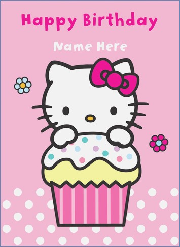 sanrio birthday card ; hello-kitty-hello-kitty-happy-birthday-cake-personalised-of-hello-kitty-happy-birthday-card