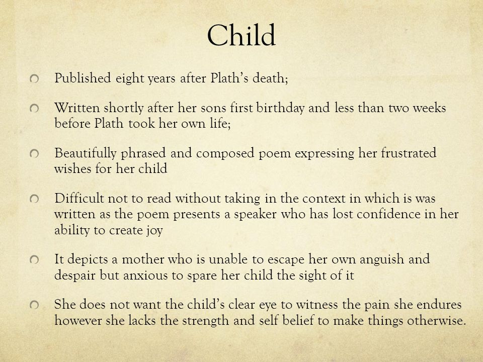 self composed poem on birthday ; Child+Published+eight+years+after+Plath%25E2%2580%2599s+death%253B