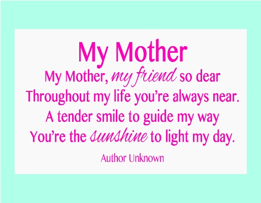 short poem for mom on her birthday ; short-mothers-day-poems-2