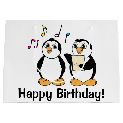 sing happy birthday to you ; penguins-singing