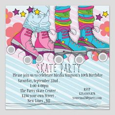 skating birthday party invitations printable ; 92e46e376f130d88ab996e837aa0ac97--roller-skating-party-skate-party